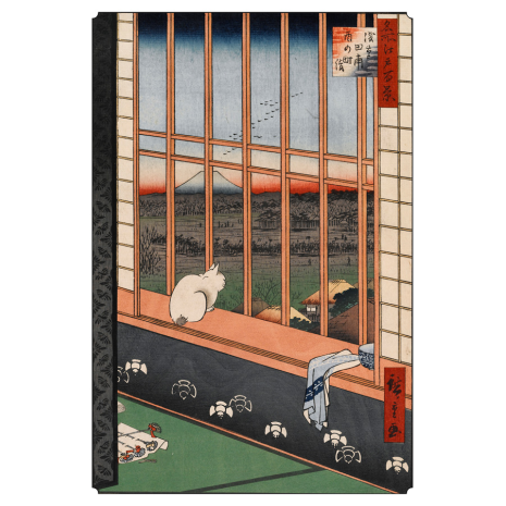 Hiroshige Book of 30 Japanese Postcards example 3