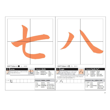 Introduction to Japanese Kanji Calligraphy Book example page 3