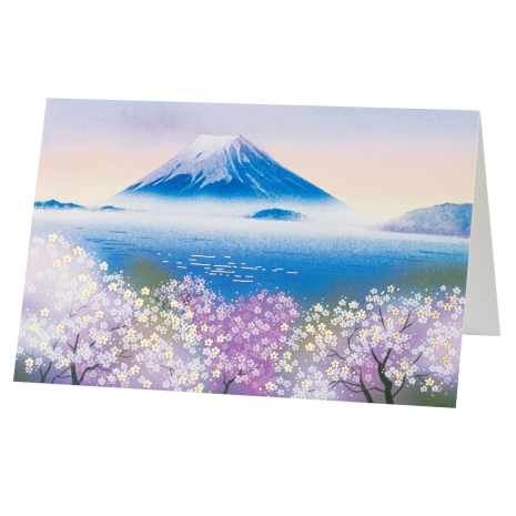 Mount Fuji in Blossom Japanese Card