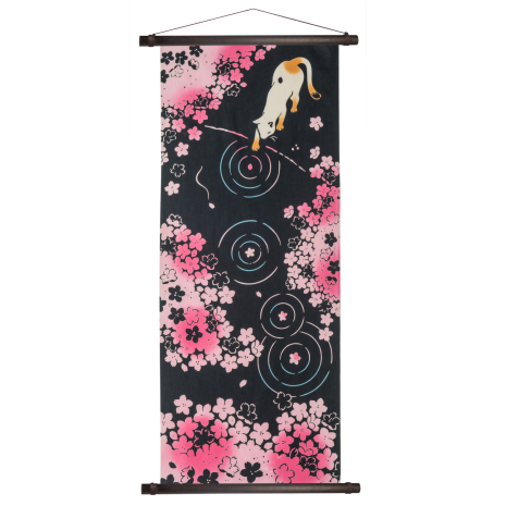 Small Japanese Tapestry Hanging Poles