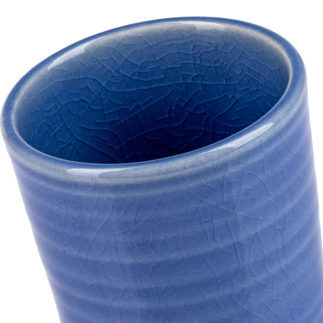 Tall Blue Quality Japanese Sake Cup top