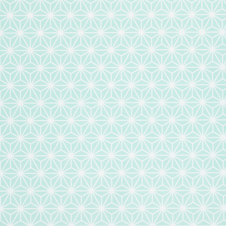 Green Asanoha Japanese Gift Wrapping Paper