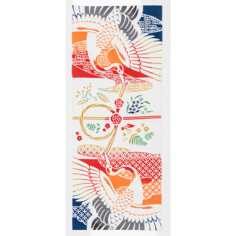 Lucky Cranes Japanese Wall Tapestry Set cloth only