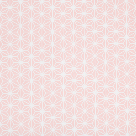 Pink Asanoha Japanese Gift Wrapping Paper