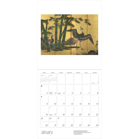 Scrolls and Screens Japanese Calendar 2022 example month