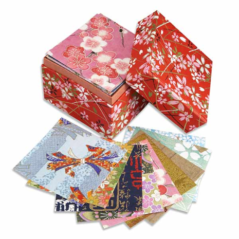 Box of Washi Origami Paper