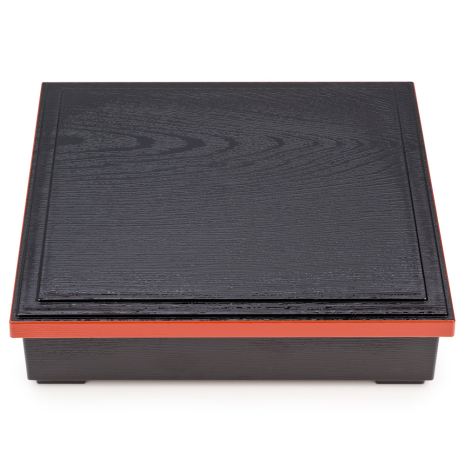 Black and Red Lacquer Japanese Obento Box