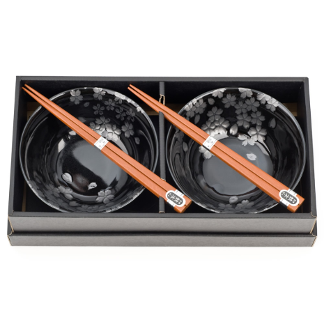 Ginsai Sakura Japanese Bowl Set and gift box