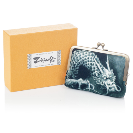 Black Dragon Japanese Coin Purse and gift box