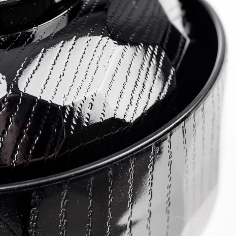 Black Lacquer Japanese Miso Soup Bowl and Lid close up