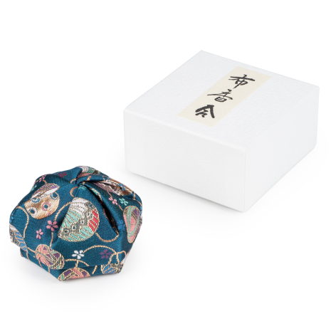 Blue Floral Traditional Japanese Jewellery Box and gift box