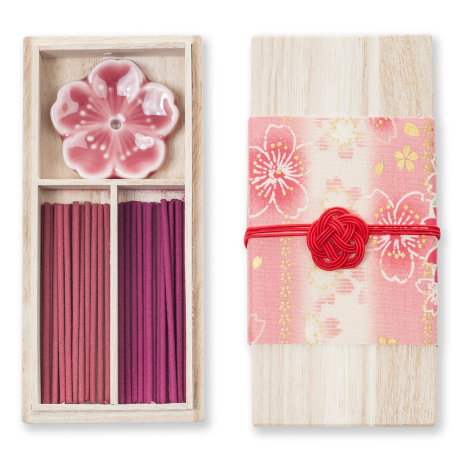 Cherry Blossom Japanese Incense Set
