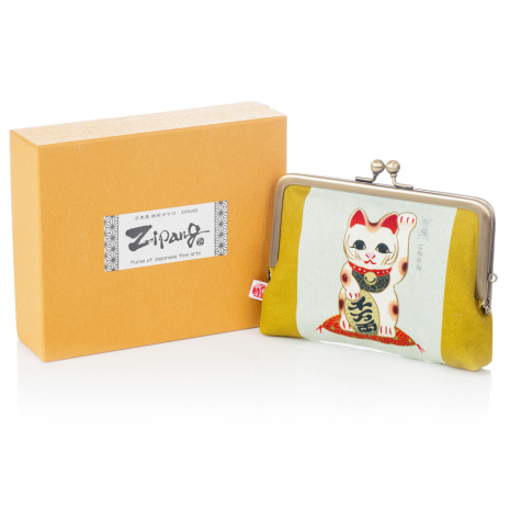 Lucky Cat Japanese Coin Purse and gift box