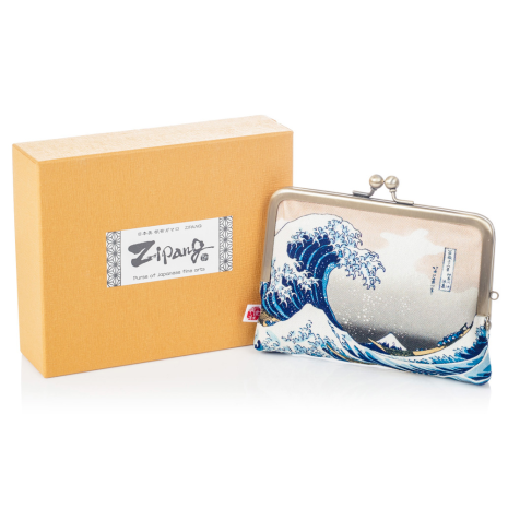 The Great Wave Japanese Coin Purse and gift box