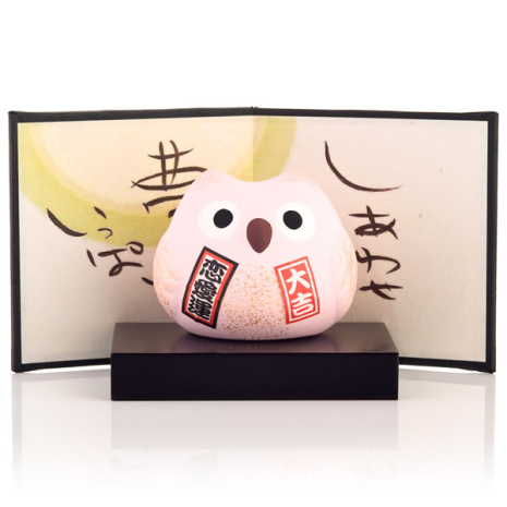 Feng Shui Love Japanese Lucky Owl base and screen