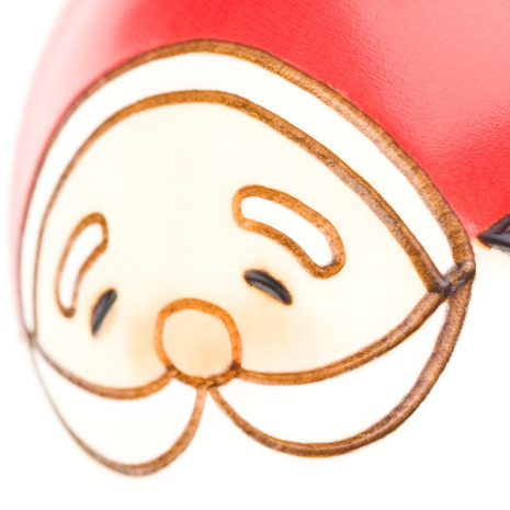 Midi Santa Christmas Kokeshi Doll Close Up