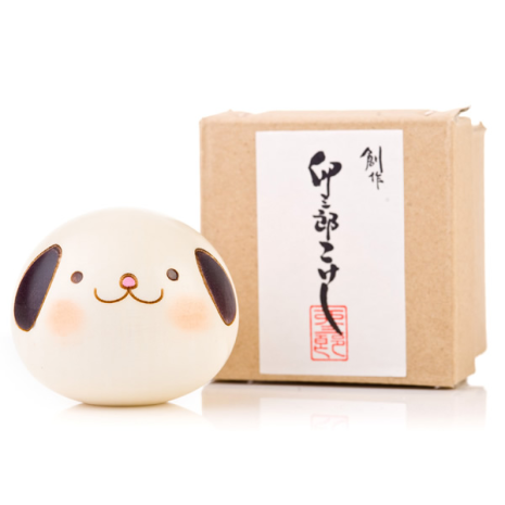 Small Year of the Dog Birthday Kokeshi Doll Gift Box