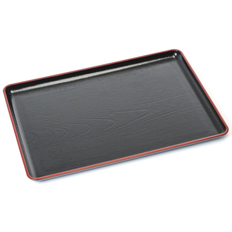 Black Plastic Japanese Lacquer Tray