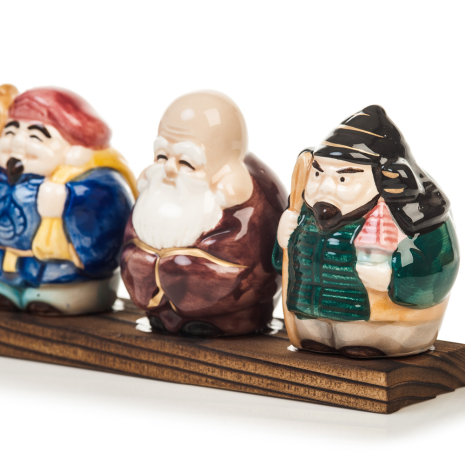 Seven Japanese Lucky Gods close up