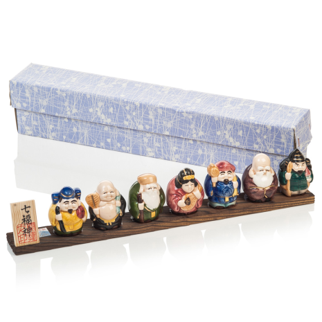 Seven Japanese Lucky Gods and gift box
