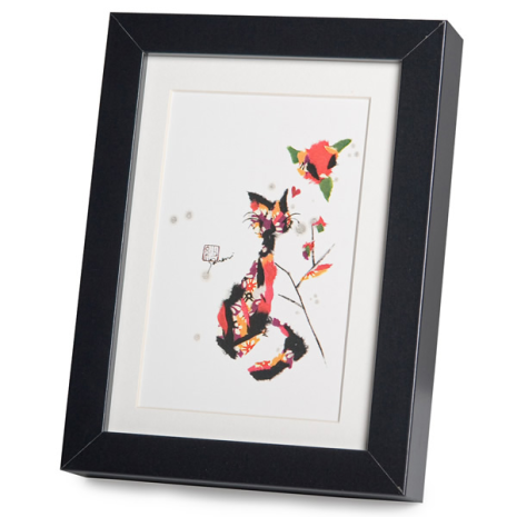 Paws For Thought Black Frame A5 Japanese Print