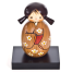 Small Springtime Authentic Kokeshi Doll and base