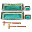 Turquoise Crackleglaze Oblong Plate Set