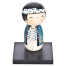 Lucky Boy Cute Wooden Kokeshi Doll with stand