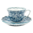 Sarasa Japanese Tea Cup and Saucer