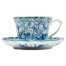 Sarasa Japanese Tea Cup and Saucer side