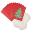 Pack 10 Xmas Tree Fun Japanese Festive Cards