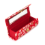 Red Floral Japanese Lipstick Case open