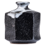 Black Ichirin Sashi Japanese Mini Vase side