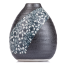 Charcoal Floral Mini Japanese Vase side