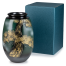 Green and Gold Kinsai Pine Japanese Vase with box