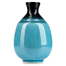 Sea Blue Crackleglaze Japanese Sake Pot side