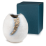 White and Gold Kinsai Quality Japanese Vase and gift box