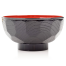 Black Lacquer Japanese Miso Soup Bowl side