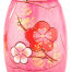 Pink Blossom Authentic Wooden Kokeshi Doll Close Up