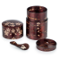 Cherry Bark Handmade Japanese Tea Caddy Set open