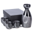 Black Nanban Traditional Japanese Sake Set complete