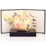 Small Feng Shui Good Fortune Lucky Cat with base and screen