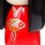Dance Girl Authentic Wooden Kokeshi Doll Close Up B