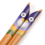 Blue Owl Japanese Bamboo Chopsticks handle