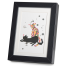 Two Cats Playing Black Frame A5 Japanese Print