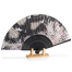 Black Butterfly Japanese Folding Fan with stand
