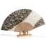Black Cherry Blossom Japanese Folding Fan with stand