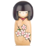 Cherry Blossom Natural Wood Kokeshi Doll