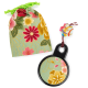 Green Floral Japanese Compact Mirror
